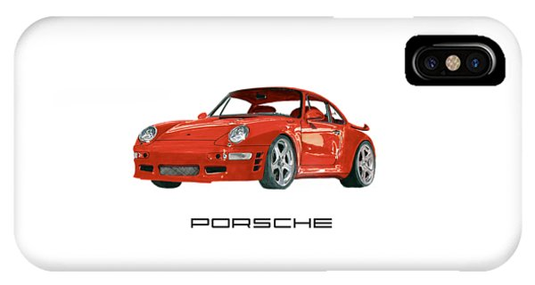 Red Porsche 993 1997 Twin Turbo R IPhone Case