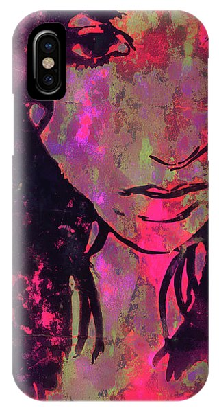 IPhone Case featuring the photograph Red Portrait by Jeff Gettis