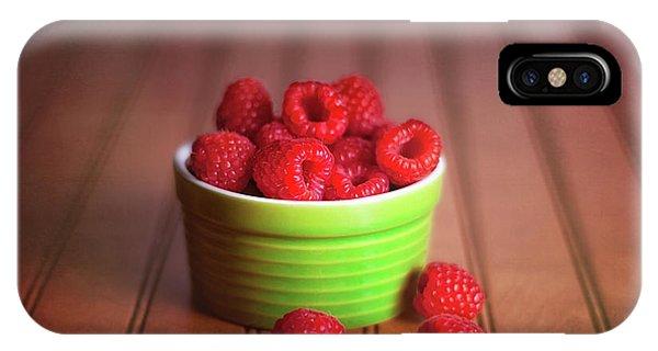 Red Raspberries Still Life IPhone Case