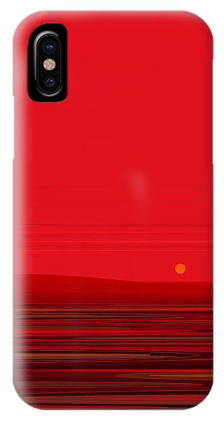 Red Ripple II IPhone Case