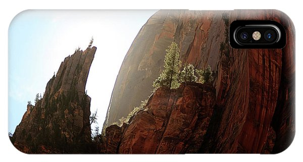 Red Rock At Zion IPhone Case