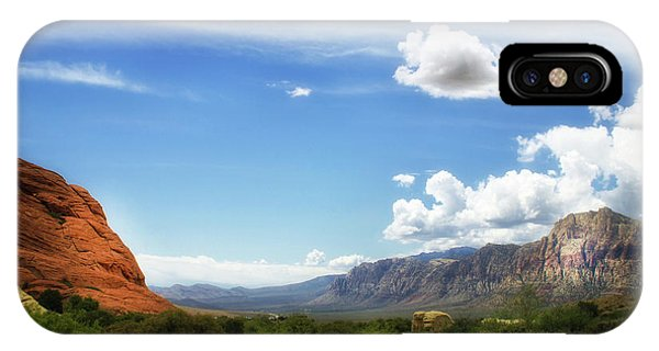 Red Rock Canyon Vintage Style Sweeping Vista IPhone Case