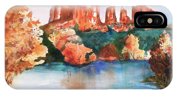 Red Rock Crossing IPhone Case