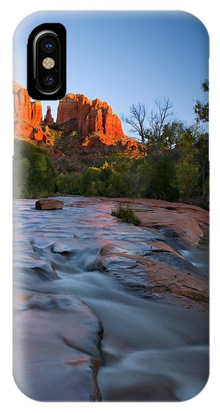 Cathedral Rock iPhone Case - Red Rock Sunset by Mike  Dawson