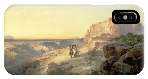 Horseman iPhone Case - Red Rock Trail by Thomas Moran