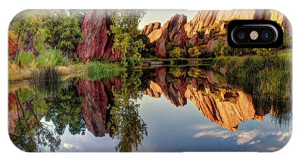 Red Rocks Reflection IPhone Case