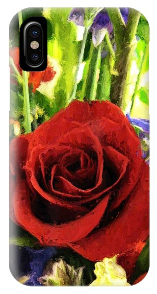 Red Rose And Flowers IPhone Case