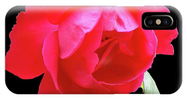 Red Rose Cutout IPhone Case