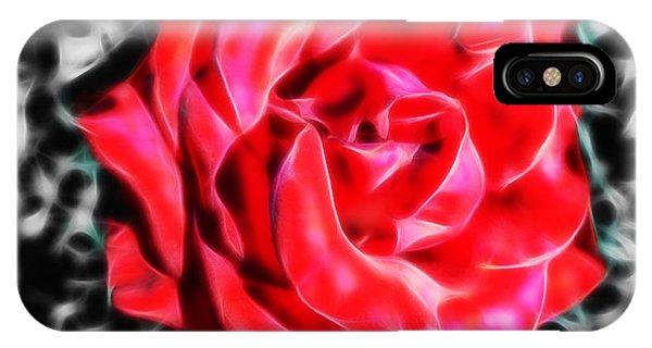 Red Rose Fractal IPhone Case
