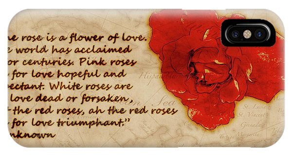 Red Rose Significance IPhone Case