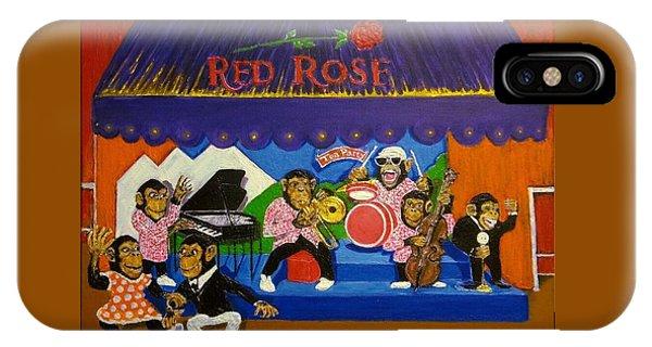 Red Rose Tea Chimpanzees IPhone Case