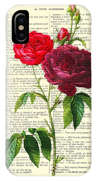 Floral iPhone Case - Red Roses For Valentine by Madame Memento