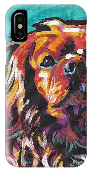 King Charles iPhone Case - Red Ruby by Lea S