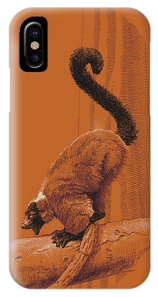 Screaming Lemur IPhone Case