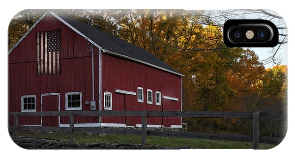 New England Barn iPhone Case - Red Rustic Barn by Susan Candelario