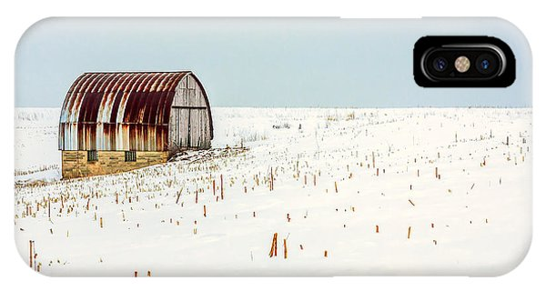 Cold Day iPhone Case - Red, Rusty Roof by Todd Klassy