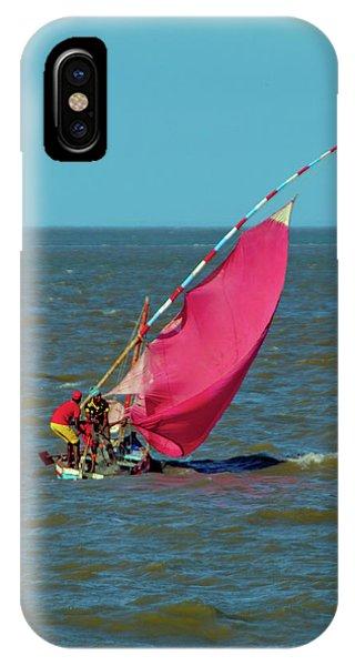 Red Sail Near Maputo IPhone Case