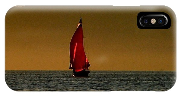 Red Sailboat IPhone Case