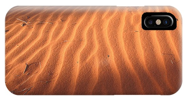 IPhone Case featuring the photograph Red Sand Dune Ripples In Detail by Keiran Lusk