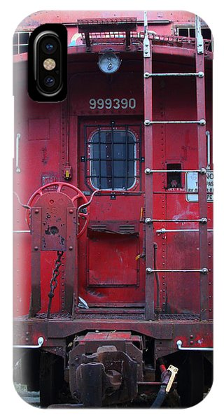 Red Caboose iPhone Case - Red Sante Fe Caboose Train . 7d10476 by Wingsdomain Art and Photography