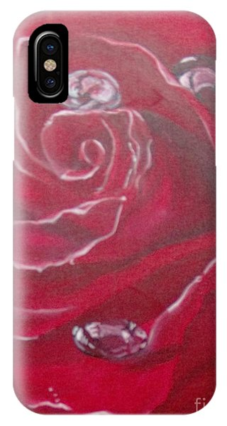 IPhone Case featuring the painting Red by Saundra Johnson