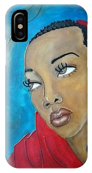 Red Scarf IPhone Case
