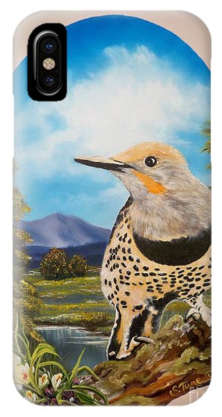 Flying Lamb Productions                       Red Shafted Flicker IPhone Case