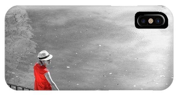 London iPhone Case - Red Shirt, Black Swanla Seu, Palma De by John Edwards