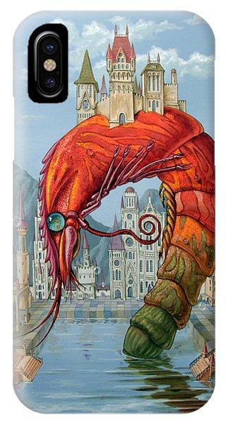 Red Shrimp IPhone Case