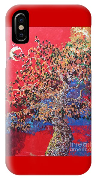 Red Sky And Tree IPhone Case