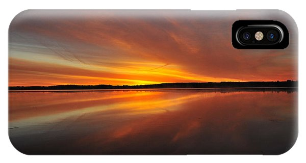 Red Sky At Morning IPhone Case