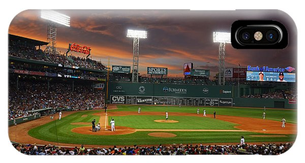Red Sox iPhone Case - Red Sky Over Fenway Park by Toby McGuire