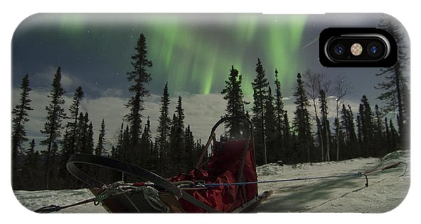 Red-sled Aurora IPhone Case