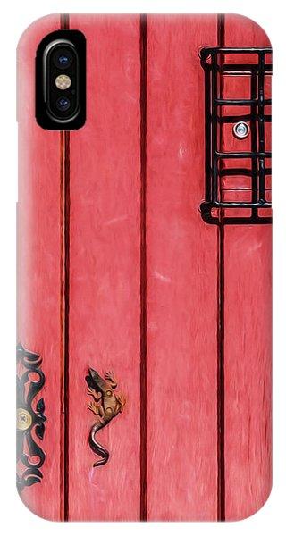 Red Speakeasy Door IPhone Case