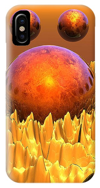 Red Spheres IPhone Case