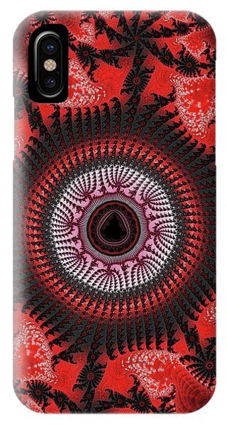 Red Spiral Infinity IPhone Case