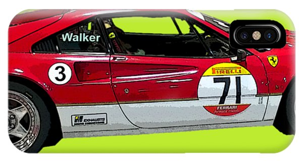 Red Sports Racer Art IPhone Case
