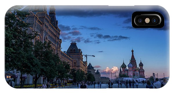 Red Square At Dusk IPhone Case