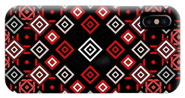 iPhone Case - Red Squared by Lisa Marie Towne