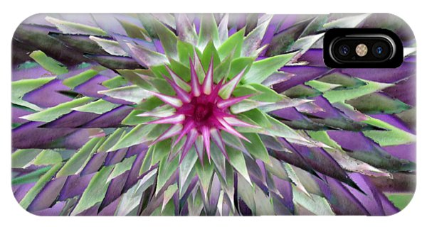 Red Star Thistle Kaleidoscope IPhone Case