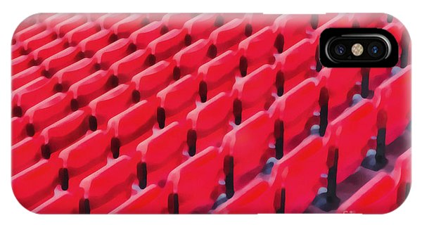 Endless iPhone Case - Red Stadium Seats by Edward Fielding