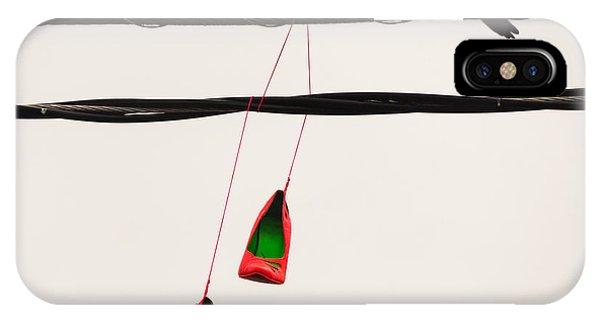 Red Stilettos With Bird IPhone Case