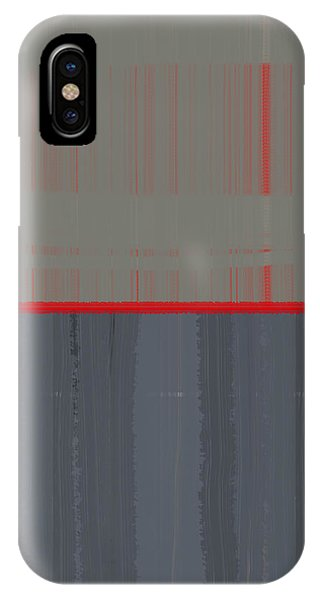 Contemporary iPhone Case - Red Stripe by Naxart Studio