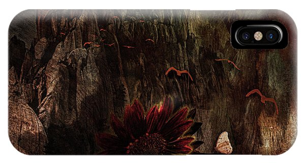 Red Sunflower IPhone Case