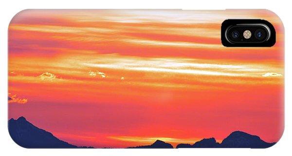 Red Sunrise IPhone Case