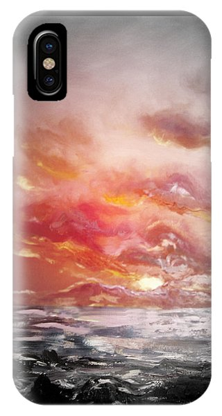Red Sunset 77 IPhone Case