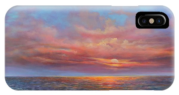 Red Sunset At Sea IPhone Case