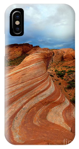 Valley Of Fire iPhone Case - Red Swirl by Mike Dawson