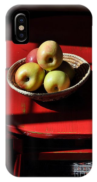 Red Table Apple Still Life IPhone Case