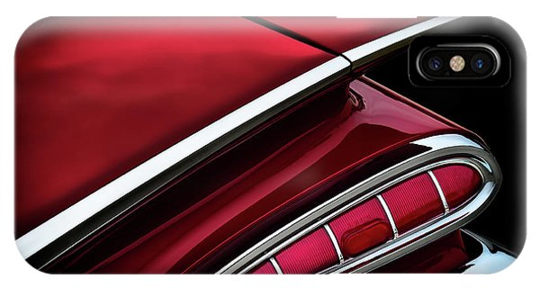 Chevrolet iPhone Case - Red Tail Impala Vintage '59 by Douglas Pittman